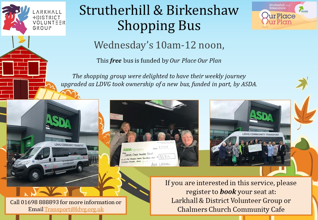Strutherhill Shopping New Bus Poster